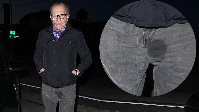 //Larry King Wet Spot Pants Photos