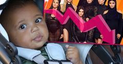 Kim Kardashian Saint West KUWTK Raitings