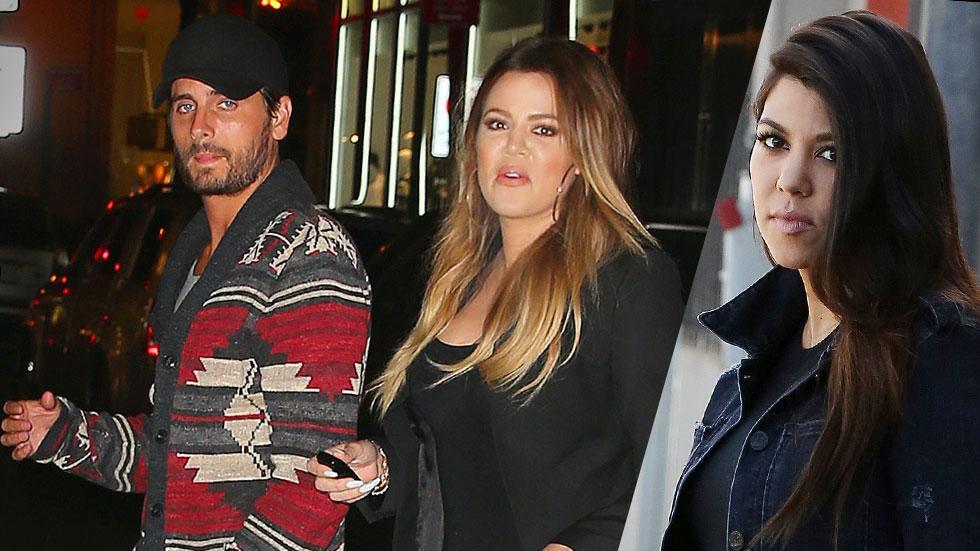 Khloe Kardashian Support Scott Disick Angering Sister Kourtney