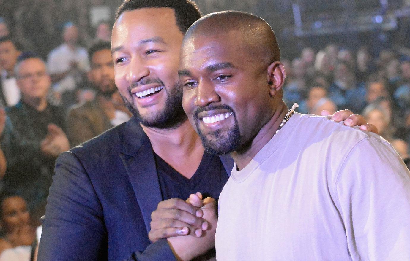 Kanye West John Legend End Feud At Chrissy Teigen Baby Shower