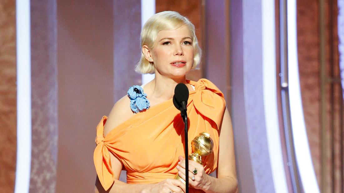 Pregnant Michelle Williams Talks Abortion In Golden Globes Speech
