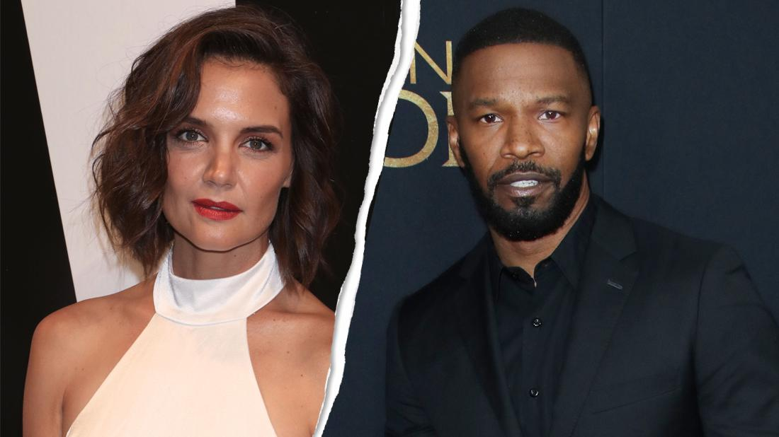 Left, Katie Holmes attends Alice + Olivia by Stacey Bendet. Right, Jamie Foxx 'Robin Hood' film premiere.