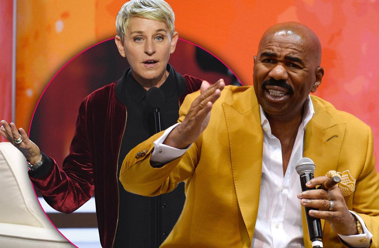 //steve harvey ellen degeneres talk show celebrity guests pp