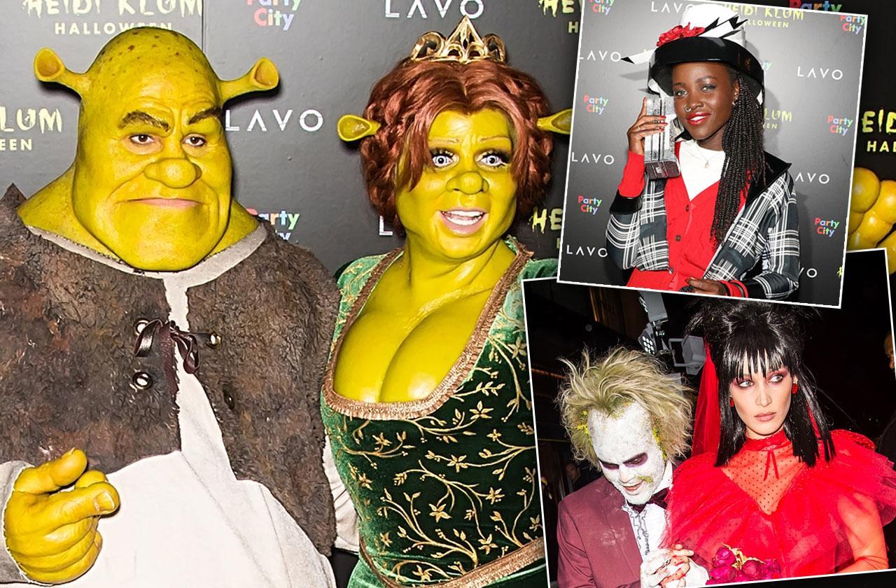 Heidi Klum Shrek Fiona Halloween 2018 Costume