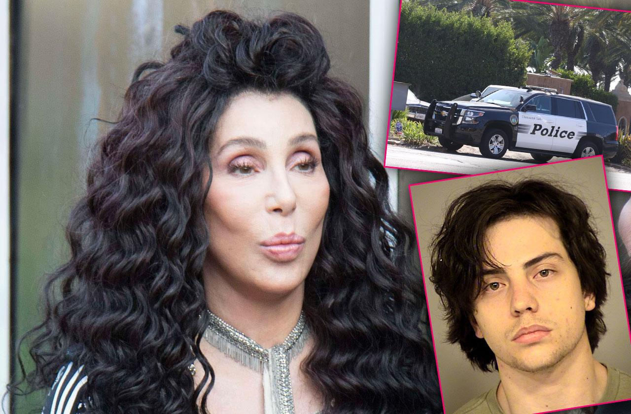 Cher House Swarmed Assistant Son Arrested Battery