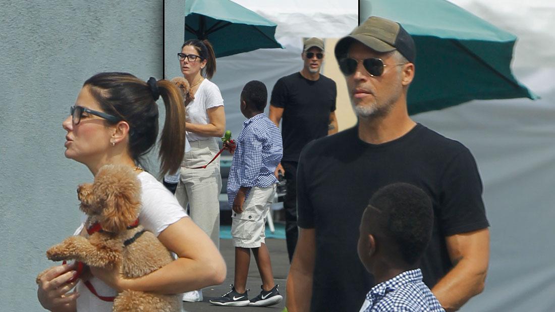 Sandra Bullock & Boyfriend Bryan Randall Out With Her Son Louis