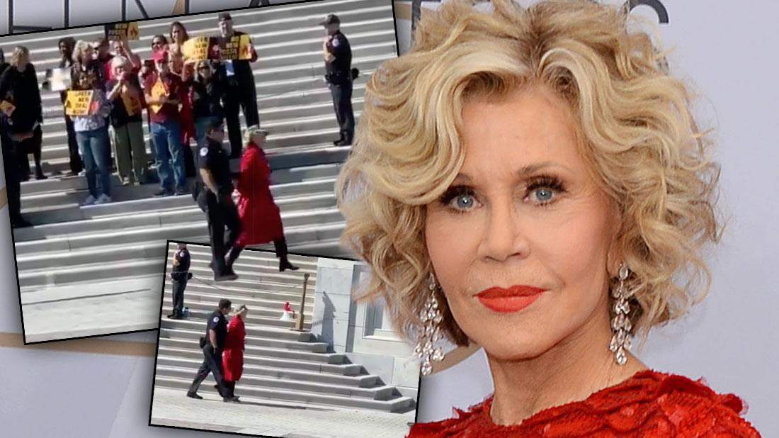 Jane Fonda Arrested At Capitol Hill For Hosting Climate Change Strike