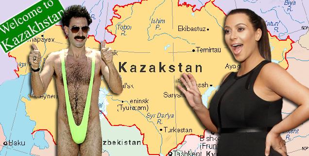 //kim kardashian borat kazakstan wide getty