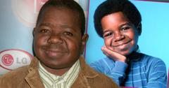 2010 Gary Coleman in Tan Corduroy Jacket With Inset Of Cary Goleman Wearing Blue And Green Striped Turtle Neck Circa 1983