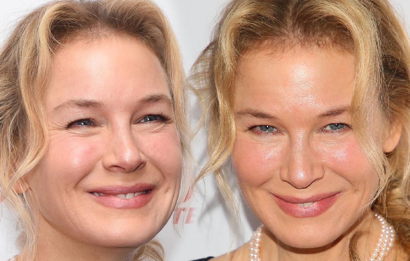 Renee Zellweger Sports Line Free Face At Charity Event