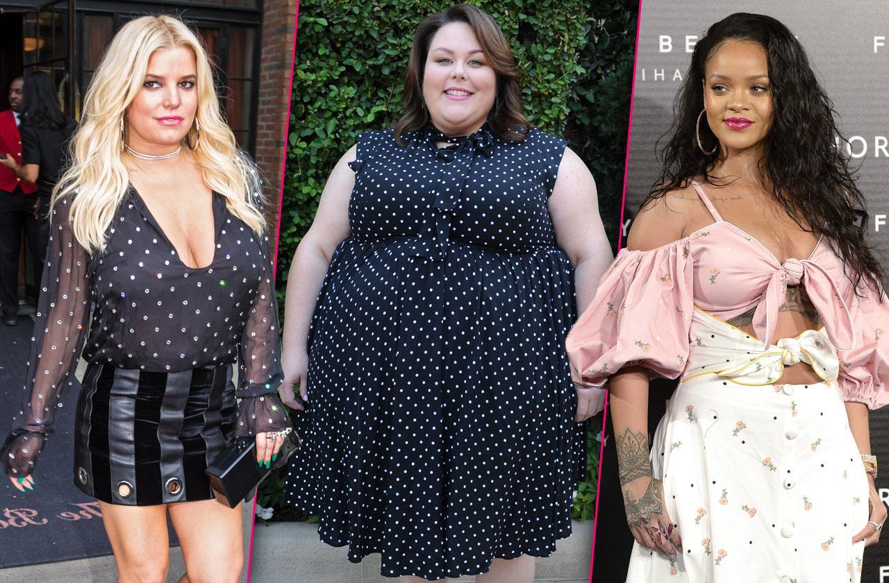 Curvy Celebrities Proud Rihanna Jessica Simpson