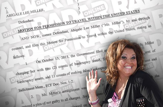 abby lee miller fraud case weekend travel