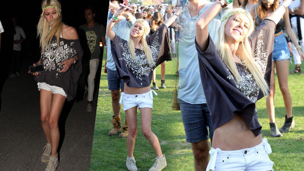 Tara Reid Scary Skinny Coachella 2015