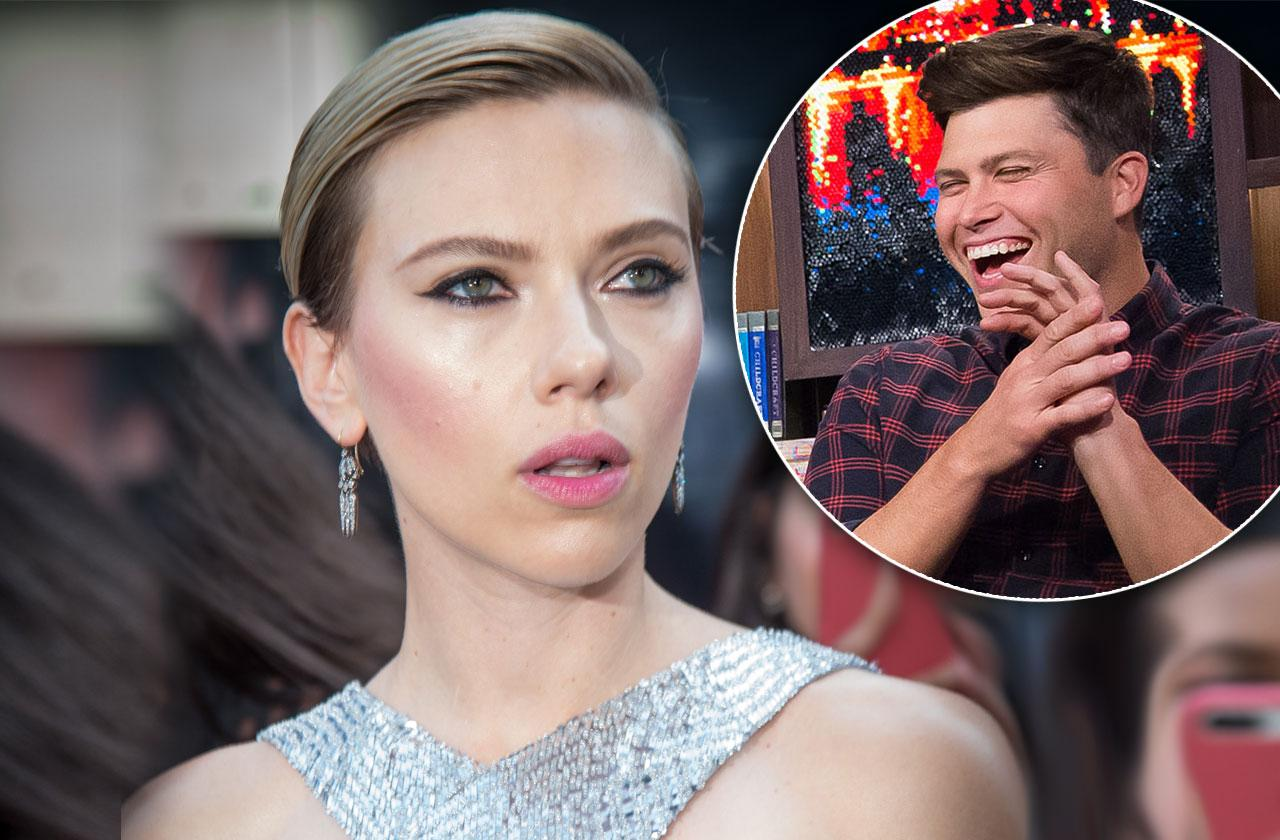 //Scarlett Johansson New Love Colin Jost Is A Party Animal pp