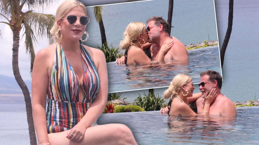 Tori Spelling Wears Swimsuit, Kisses Dean McDermott In Hawaii