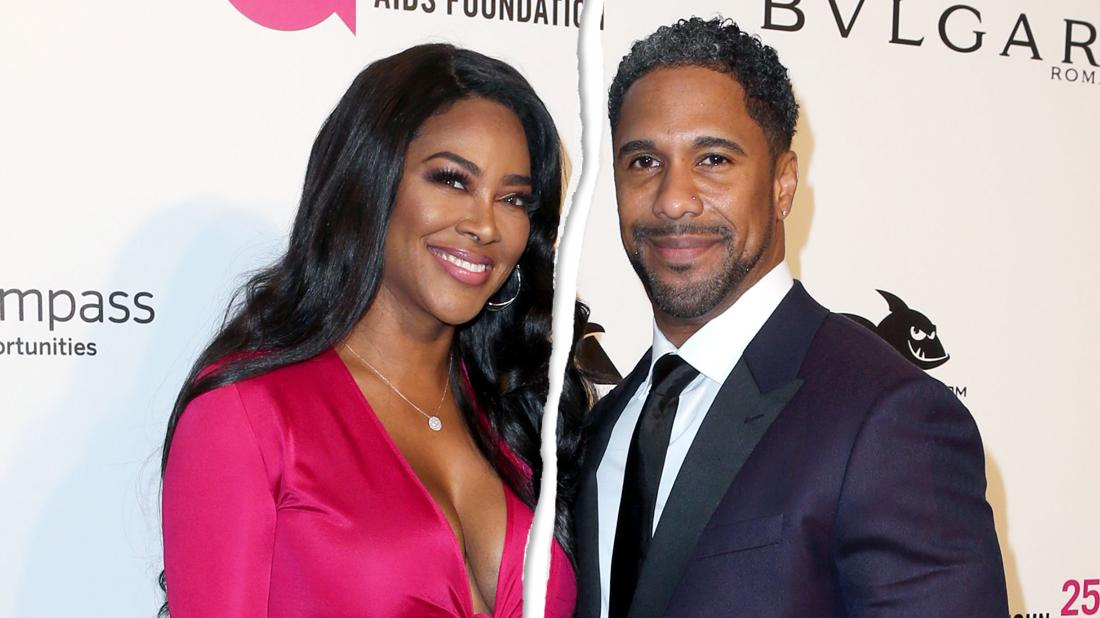 Kenya Moore and Marc Daly attend Elton John AIDS Foundation Academy Awards.