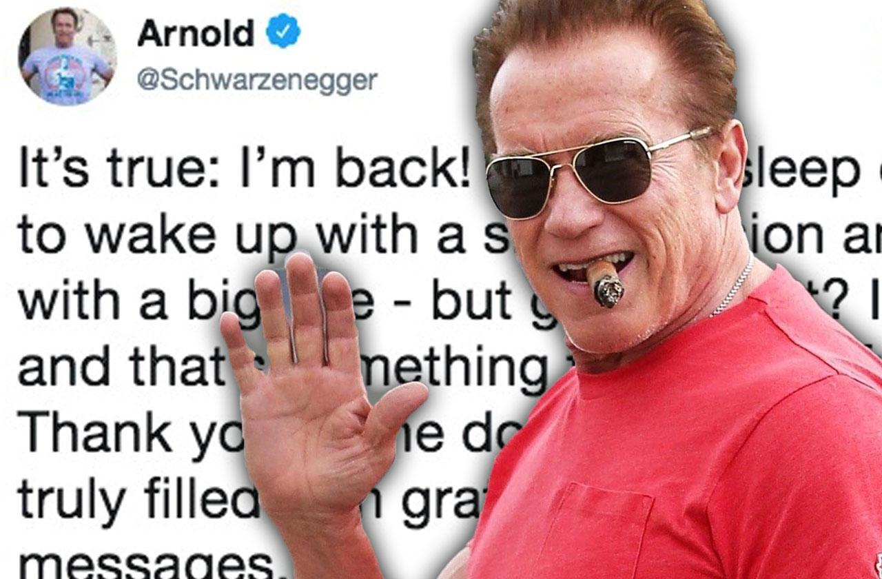 //Arnold schwarzenegger tweet open heart surgery pp