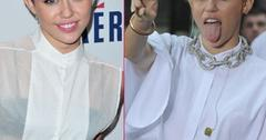 Miley Cyrus says she's playing a character in public