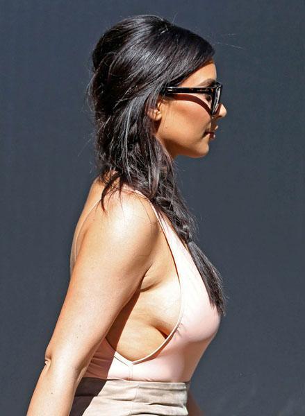 Kim Kardashian Cellulite Boob