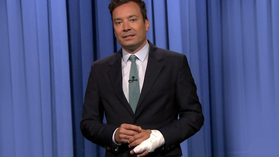 Jimmy Fallon Returns To Tonight Explains Hand Injury Finger Almost Amputated