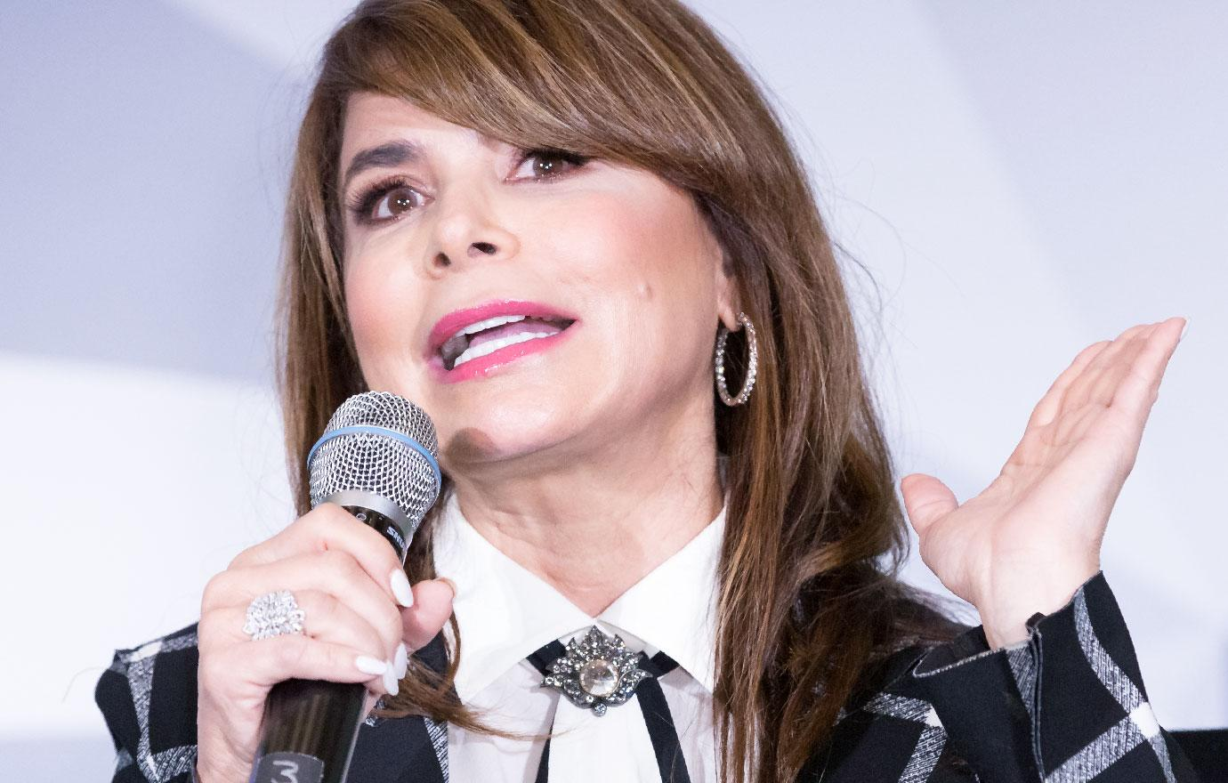 Paula Abdul Falls Off Stage During Show