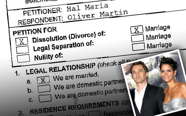 Halle Berry Olivier Martinez Divorce Filing Prenup