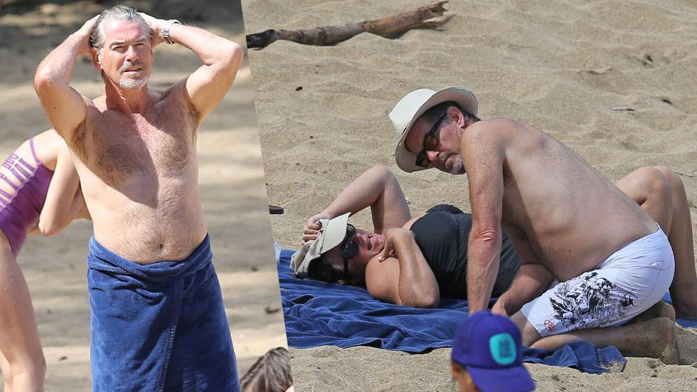 Pierce Brosnan Shirtless Hawaii