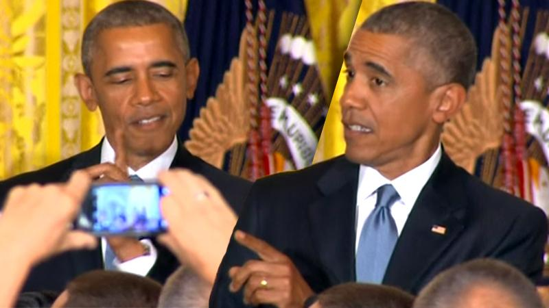 President Barack Obama Heckler