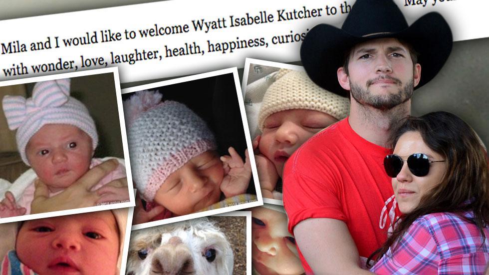 //ashton kutcher mila kunis announce baby name