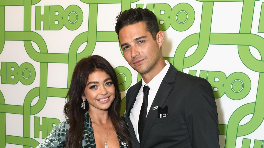 Sarah Hyland Engaged To Boyfriend Wells Adams Posing Smiling