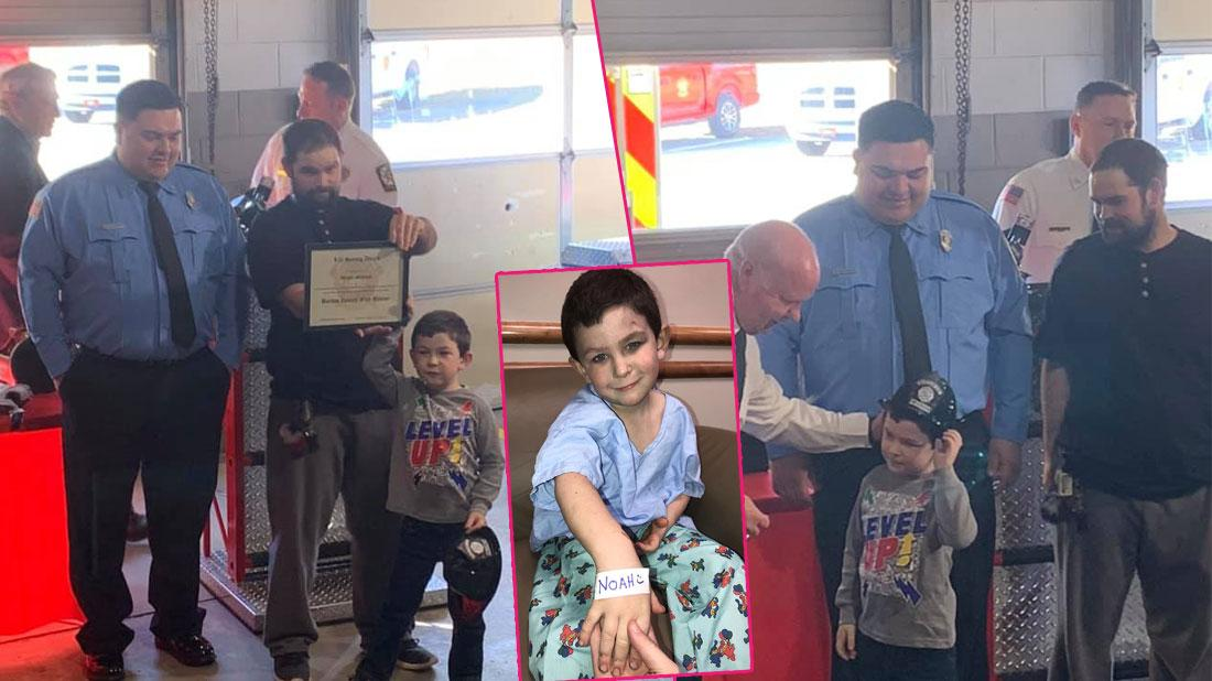 5-Year-Old Noah Woods Saved Baby Sister & Dog From Fire