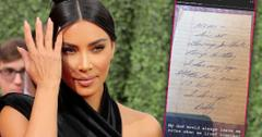 Kim Kardashian Shares Letters From Late Father