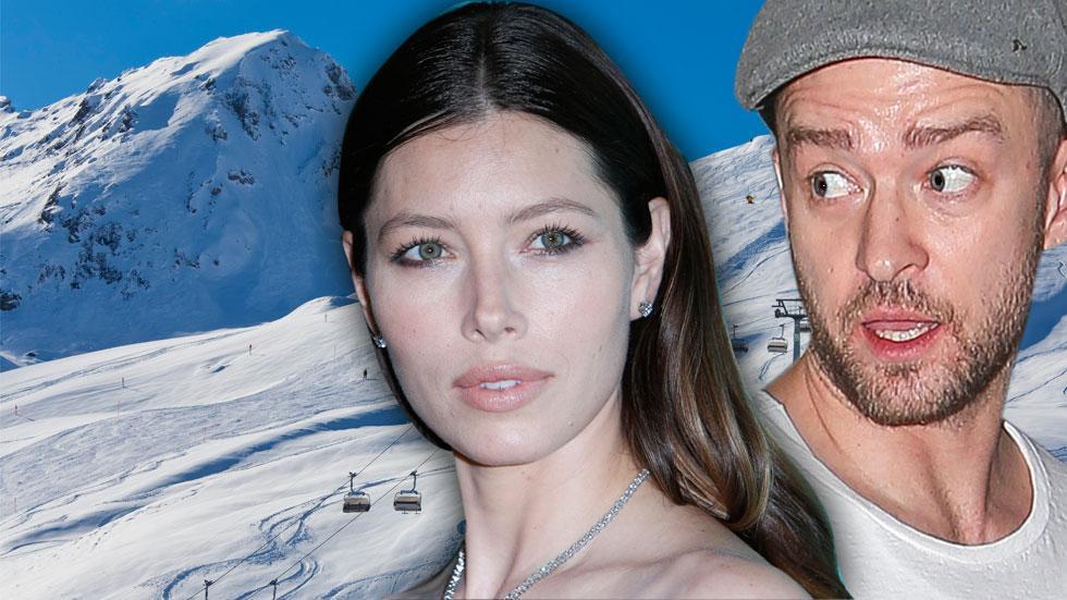 Justin Timberlake Pregnant Jessica Biel Tense Ski Trip