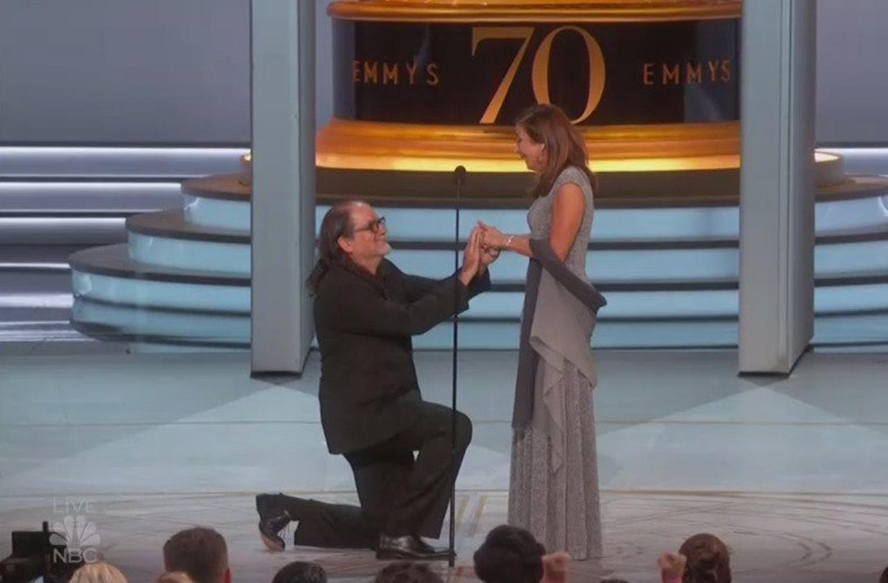 Emmys Live Proposal Glenn Weiss Dead Mom Ring