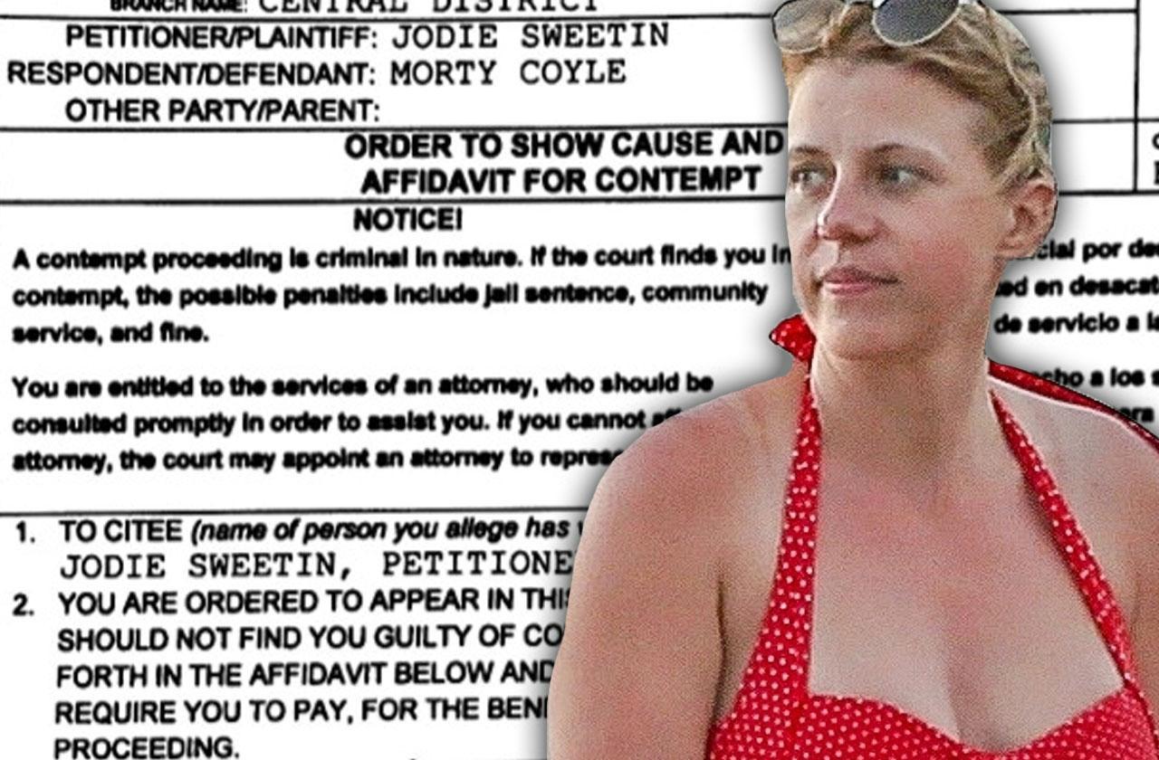 //Jodie sweetin ex claims refuses drug test pp
