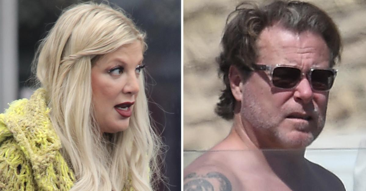 tori spelling refusing to pay dollar credit card debt amid alleged marriage problems with dean mcdermott