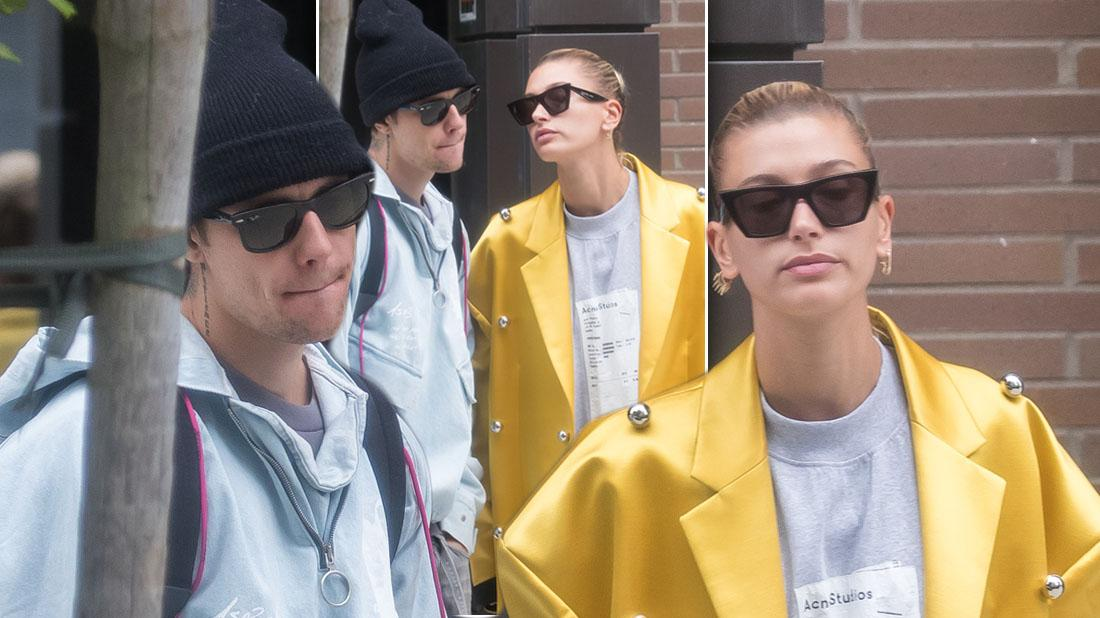 Justin bieber and Hailey looking miserable